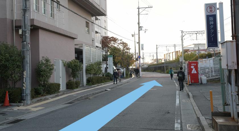 武庫川駅からの道順①